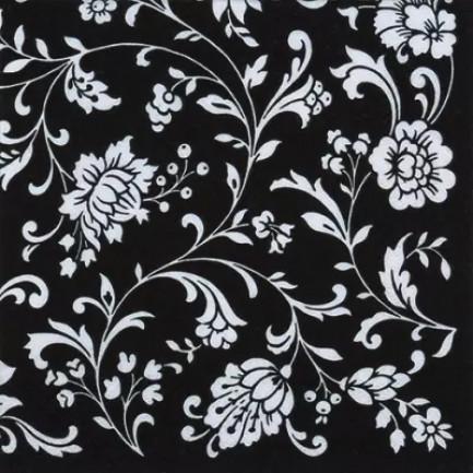 ti-flair Lunch napkins☆Arabesque Black black-white☆ (20pcs)