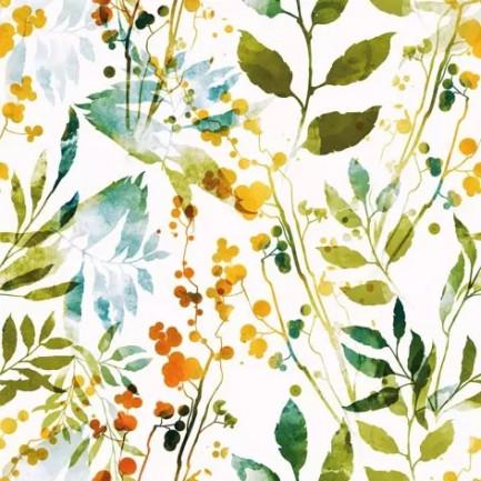 ti-flair Lunch napkins☆Boho Leaves & Herbs multi☆ (20pcs)