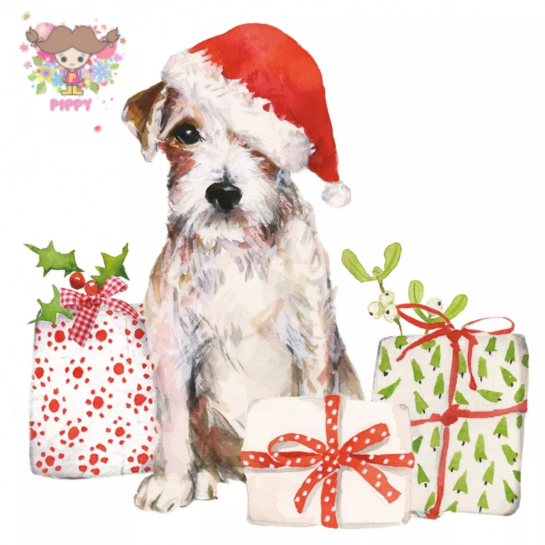PAPERPRODUCTS DESIGN☆Christmas Pup☆ (20pcs)