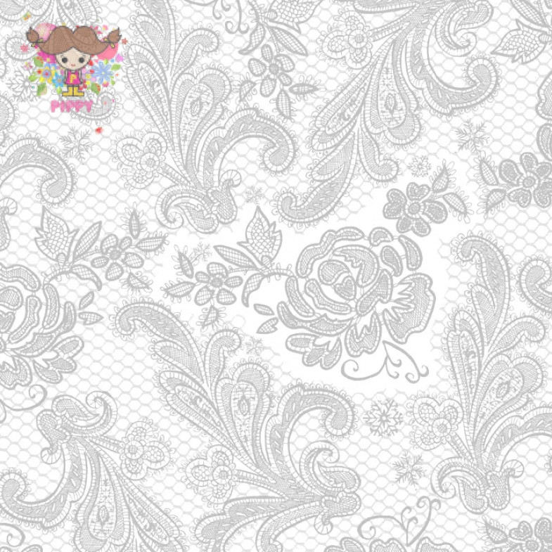PAPERPRODUCTS DESIGN☆Lace Royal pearl silver☆ (20pcs)