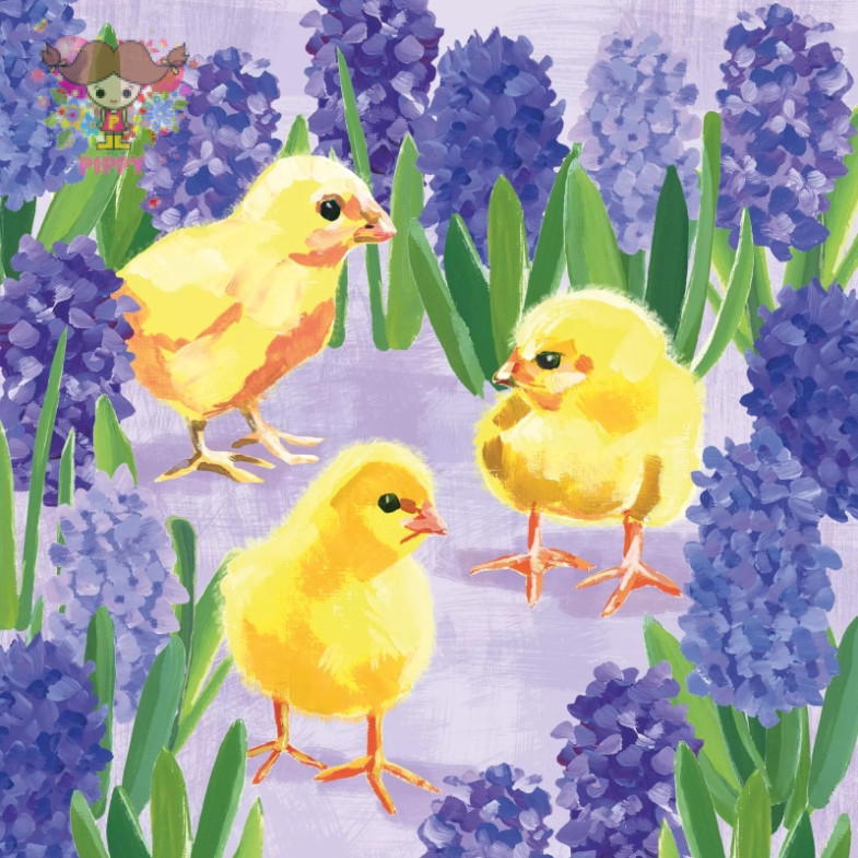PAPERPRODUCTS DESIGN☆Chicks in Hyacinth☆ (20pcs)
