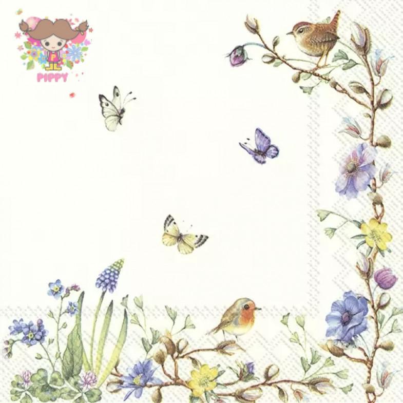 Villeroy & Boch Lunch napkins☆EASTER FLOWERS (V&B)☆(20pcs)
