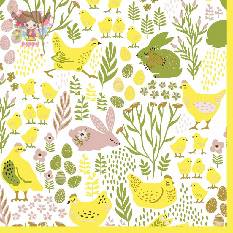 Paper+Design Lunch napkins☆Bunnies & chicks☆(20pcs)