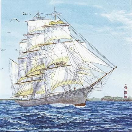 HOME FASHION Lunch napkins☆Sailing Ship☆(20pcs)