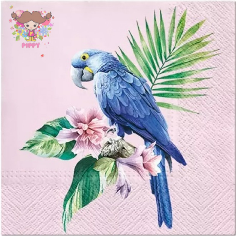 Paw Lunch napkins☆Exotic Parrot☆(20 item)