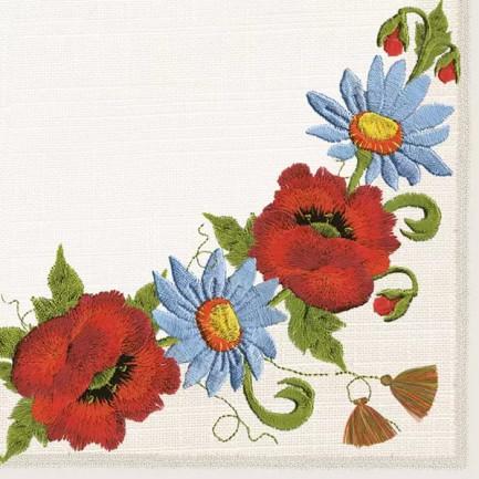 Daisy Pol-Mak  Lunch napkins ☆Folklore Flowers☆(20pcs)
