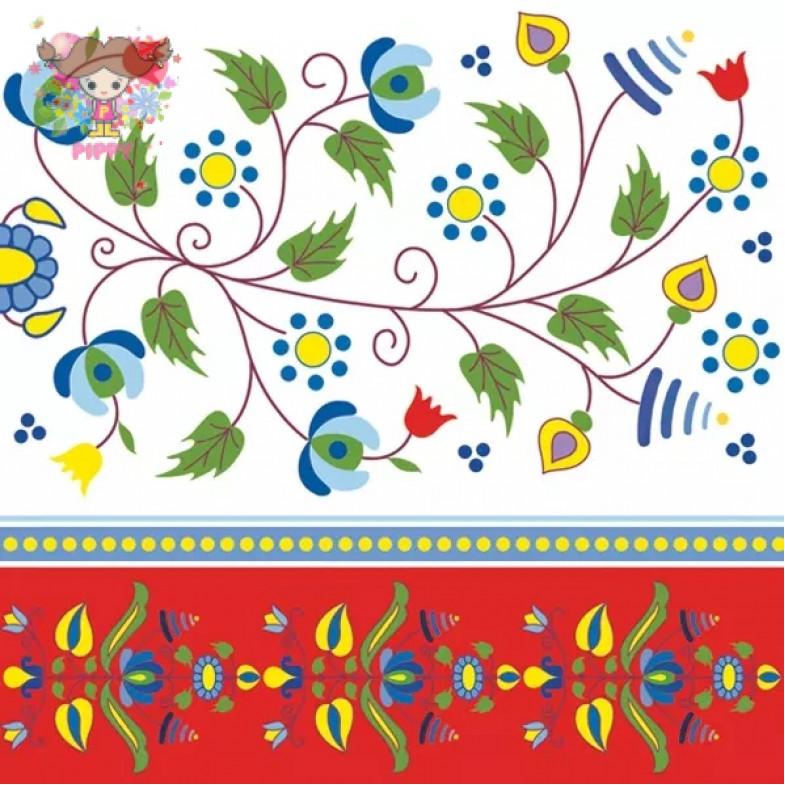 Daisy Pol-Mak  Lunch napkins ☆Kashubian Embroidery☆(20pcs)