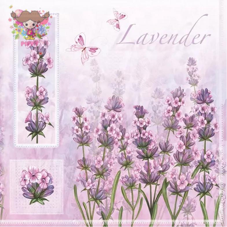 Daisy Pol-Mak  Lunch napkins ☆Lavender Flowers☆(20pcs)