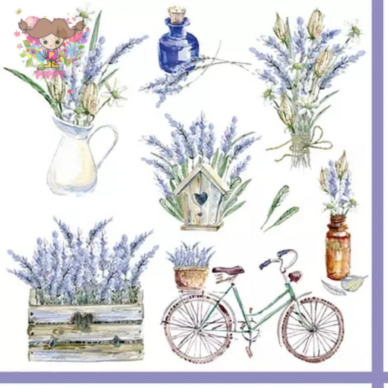 ti-flair Lunch napkins☆Rustic Provence☆ (20pcs)