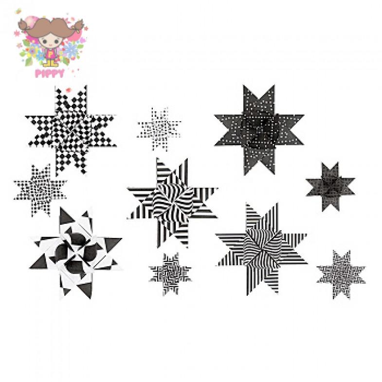 FROEBEL STAR ☆GRAPHIC, BLA/WHI☆