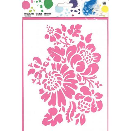 Stencil☆FLOWER 18,5X24,5CM SELBSTKLEBEND☆