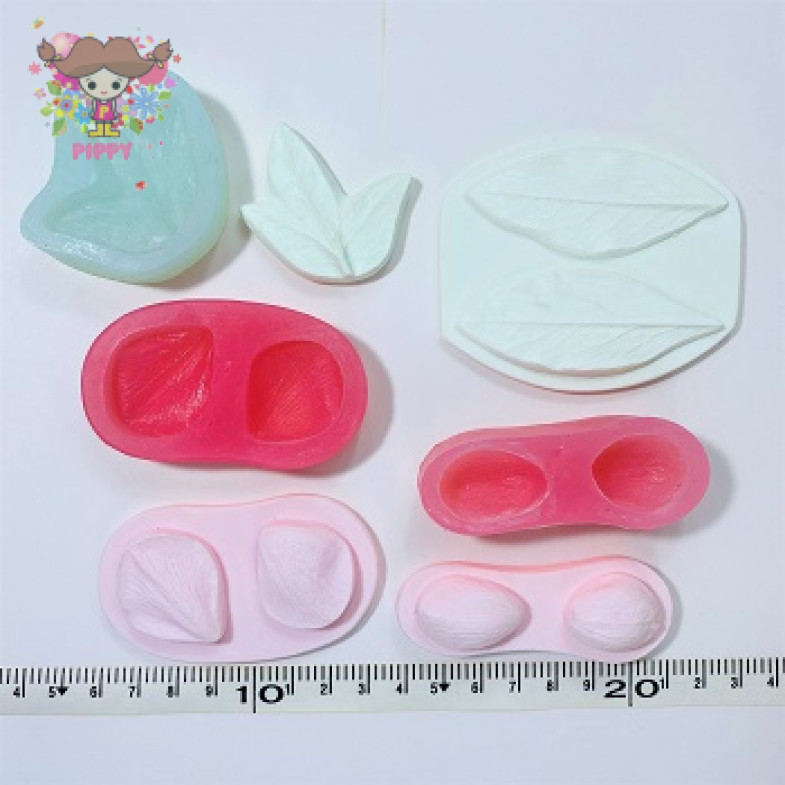 Silicone mold☆2 types of petals 2 types of leaves☆