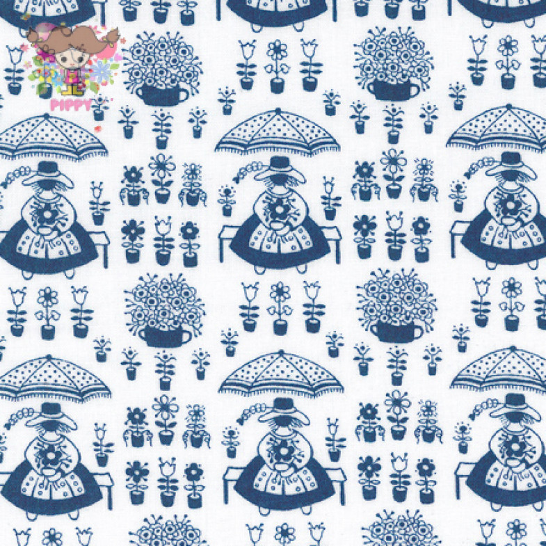 Westfalenstoffe Fabric ☆Girl Navy☆