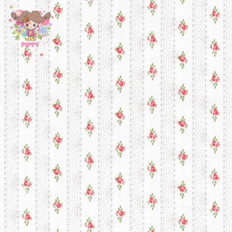 Westfalenstoffe Fabric ☆Floral stripe☆