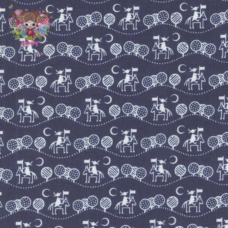 Westfalenstoffe Fabric ☆Midnight journey navy☆