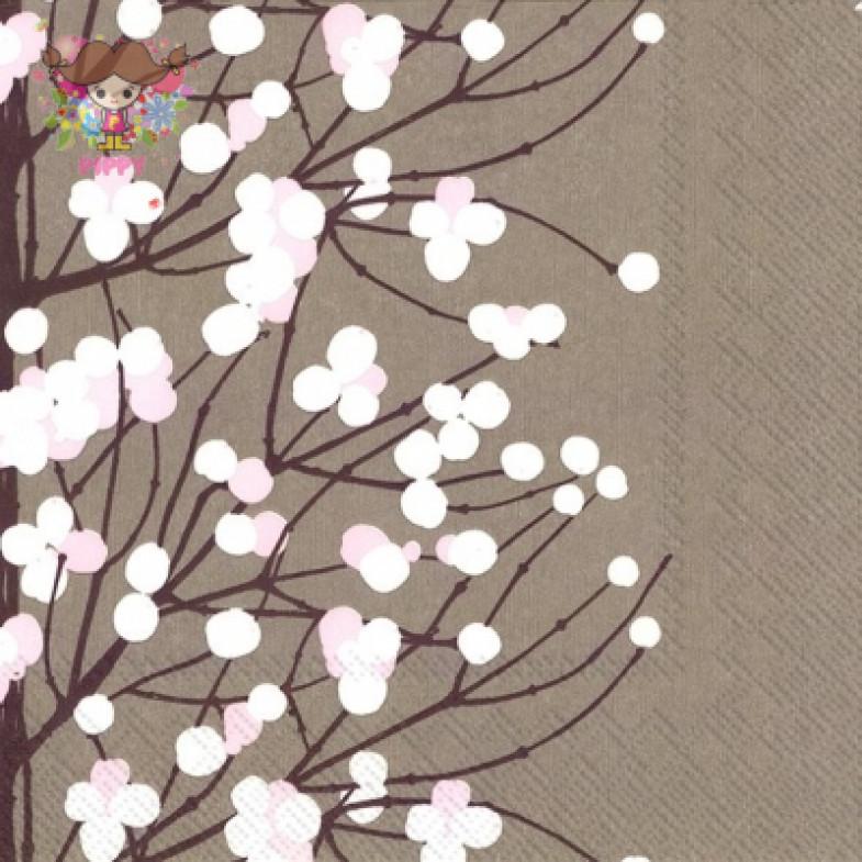 Marimekko Lunch napkins☆LUMIMARJA dark beige☆(20pcs)