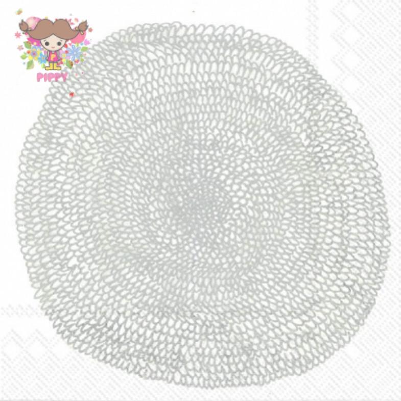 Marimekko Lunch napkins☆PIPPURIKERÄ white silver☆(20pcs)