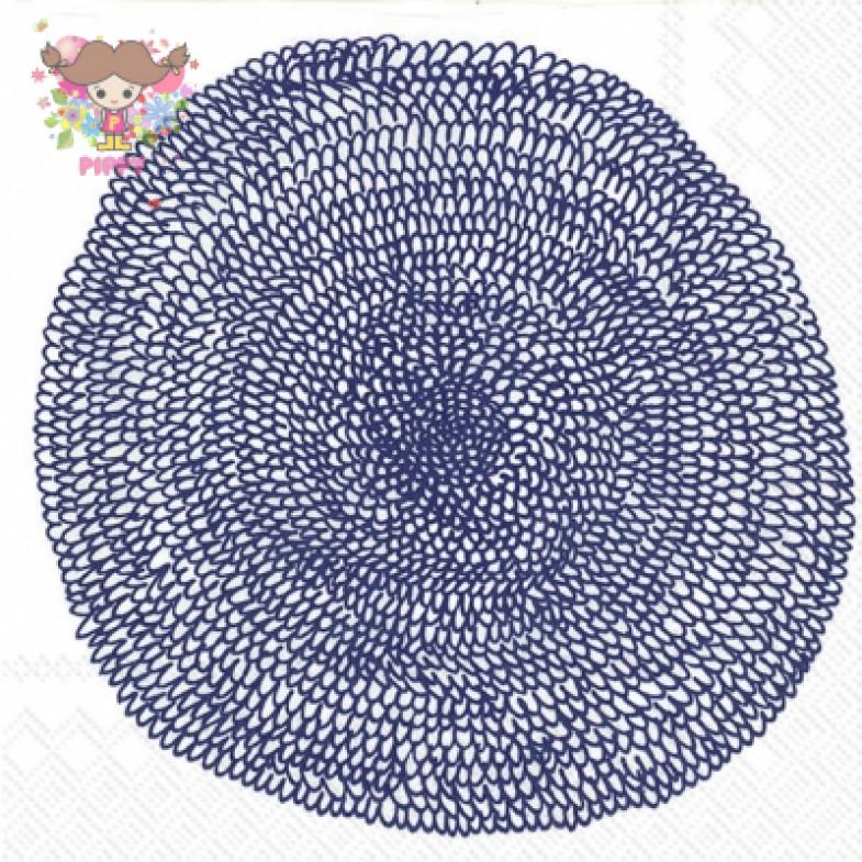Marimekko Lunch napkins☆PIPPURIKERÄ white blue PIPPURIKERA☆(20pcs)