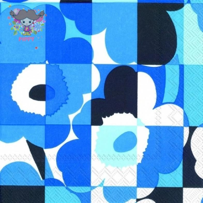Marimekko Lunch napkins☆MINI-RUUTU-UNIKKO blue☆(20pcs)