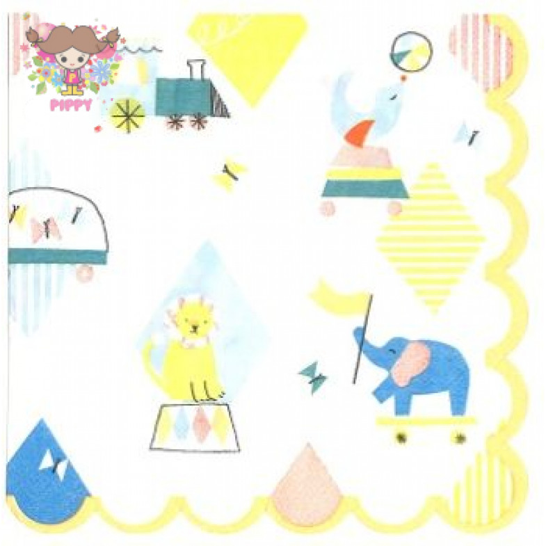 Meri Meri Lunch napkins☆animals Circus ☆(16pcs)