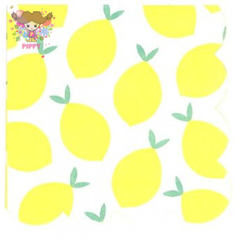Meri Meri Lunch napkins☆ Lemon☆(16pcs)