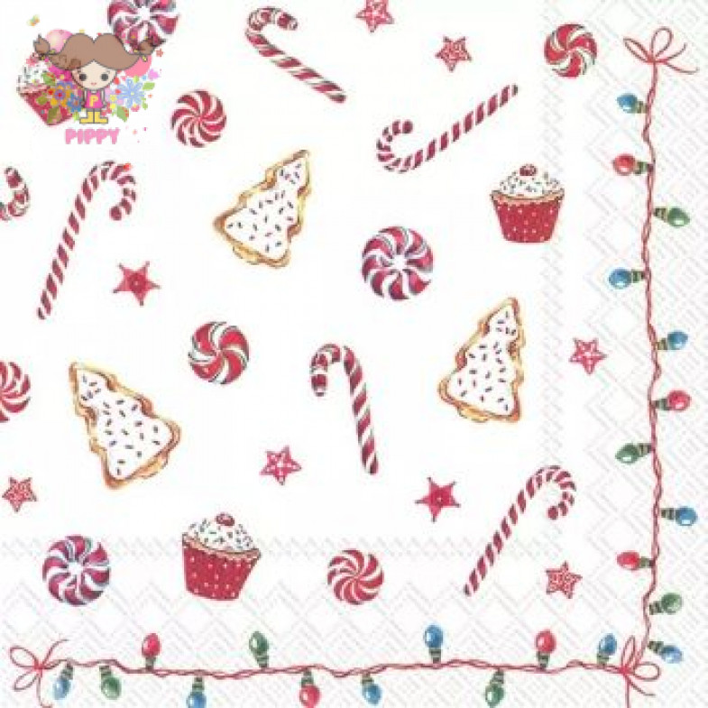 IHR Lunch napkins☆CHRISTMAS SWEETS☆(20 item)