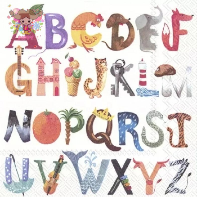 IHR Lunch napkins☆I KNOW MY ABC☆(20 item)