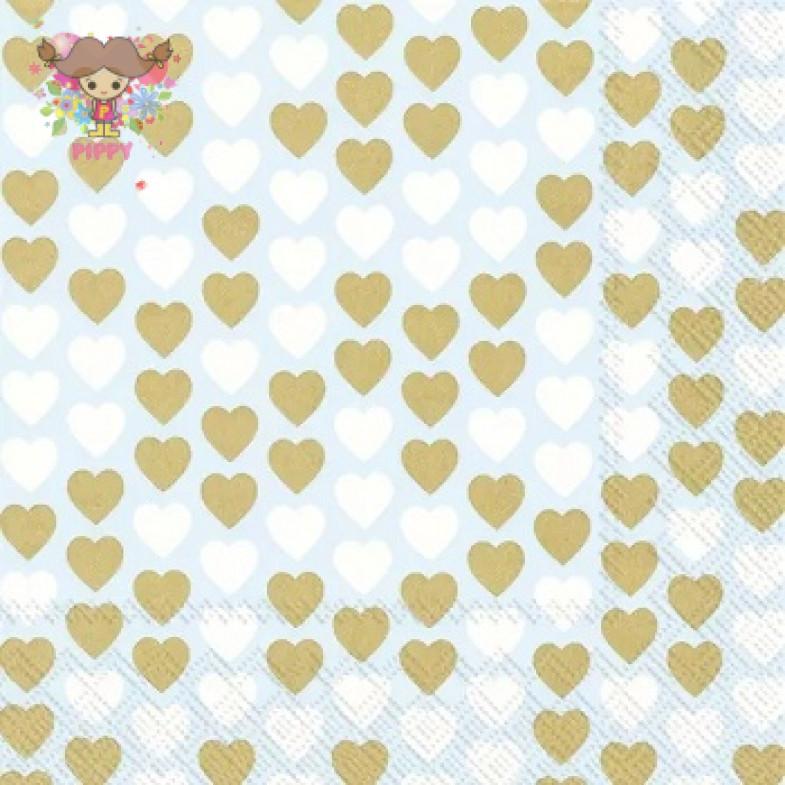 IHR Lunch napkins☆LLOVELY LITTLE HEARTS li. blur☆(20 item)