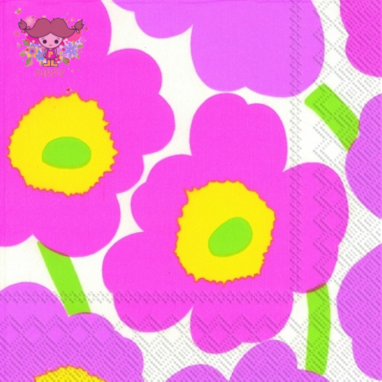 Marimekko Lunch napkins☆UNIKKO Light pink☆(20pcs)