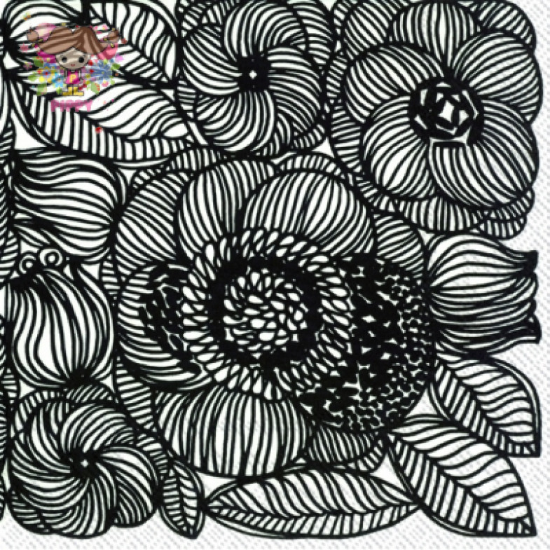 Marimekko Lunch napkins☆KURJENPOLVI black☆(20pcs)