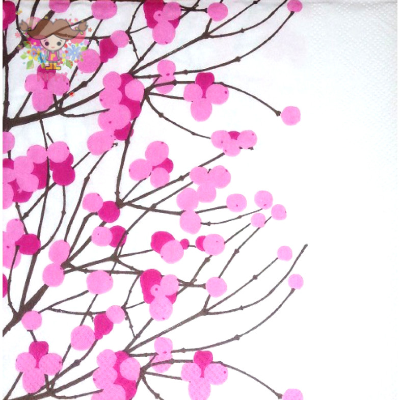 Marimekko Lunch napkins☆LUMIMARAJA white pink☆(20pcs)