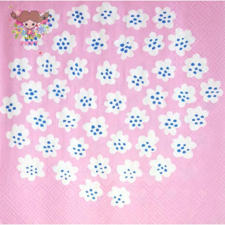 Marimekko Lunch napkins☆PUKETTI light rose☆(20pcs)
