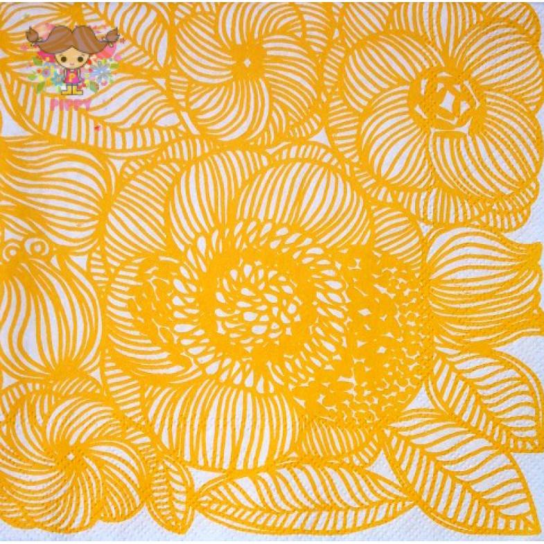 Marimekko Lunch napkins☆KURJENPOLVI yellow☆(20pcs)