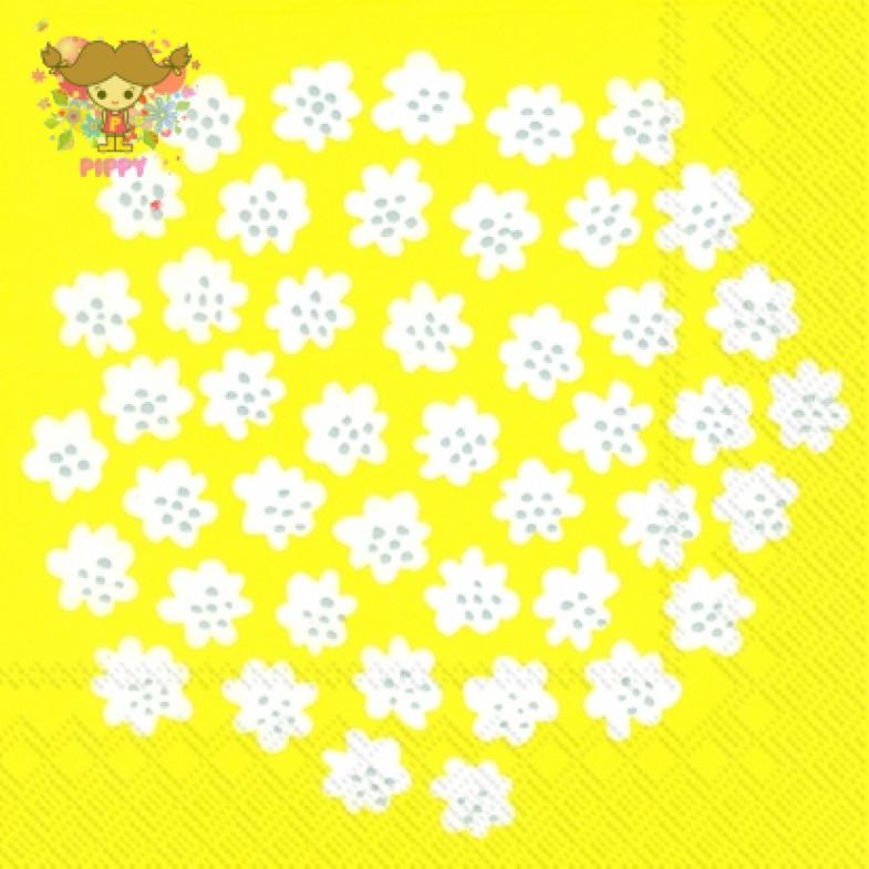 Marimekko Lunch napkins☆PUKETTI yellow☆(20pcs)