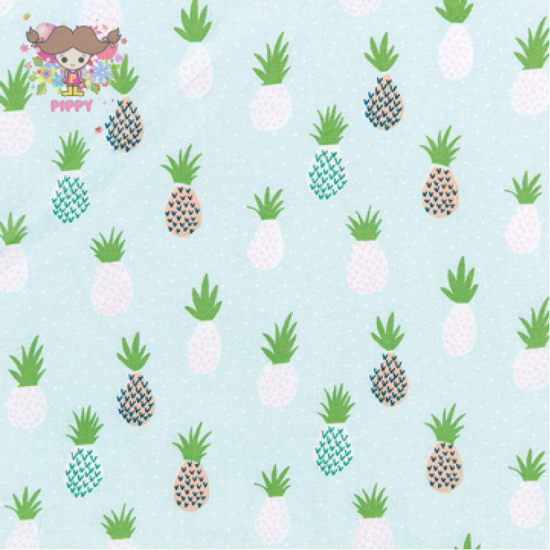 RICO DESIGN Fabric ☆Ananas mint☆