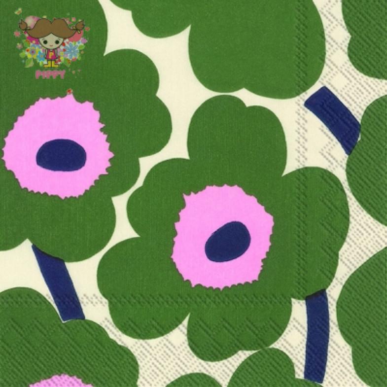 Marimekko Cocktail napkins☆UNIKKO dark green☆(20pcs)
