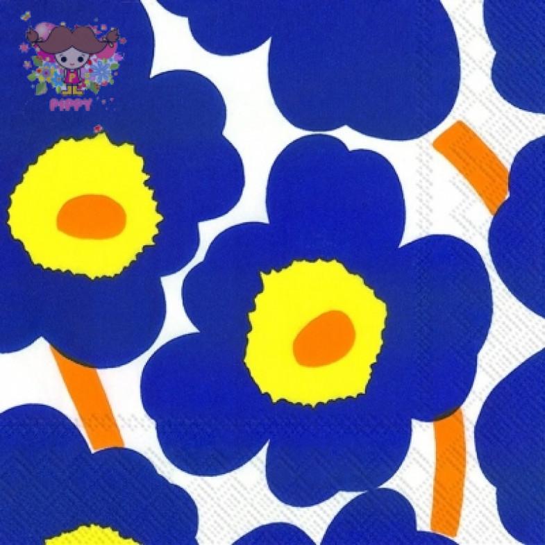 Marimekko Lunch napkins☆UNIKKO dark blue☆(20pcs)