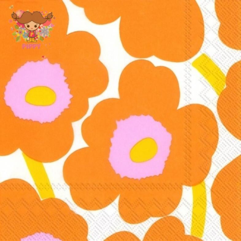 Marimekko Lunch napkins☆UNIKKO orange☆(20pcs)
