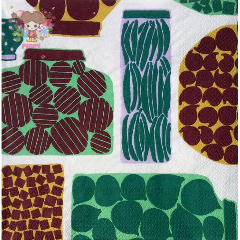 Marimekko Lunch napkins☆PURNUKKA green☆(20pcs)