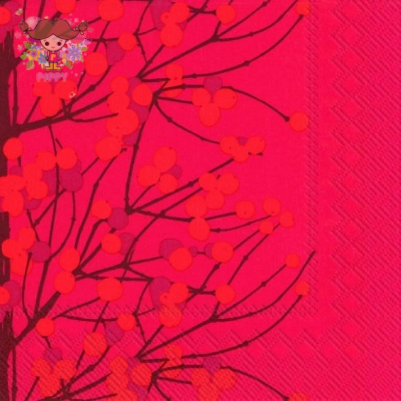 Marimekko Lunch napkins☆LUMIMARJA red☆(20pcs)
