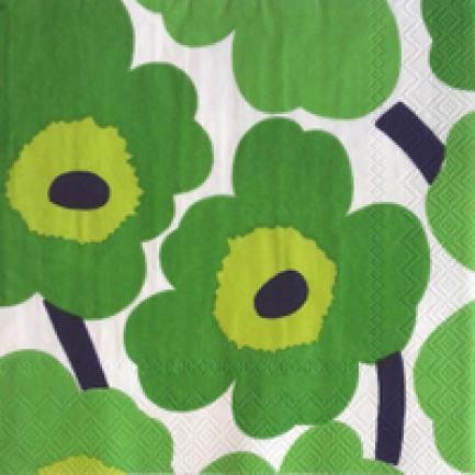 Marimekko Lunch napkins☆UNIKKO green☆(20pcs)