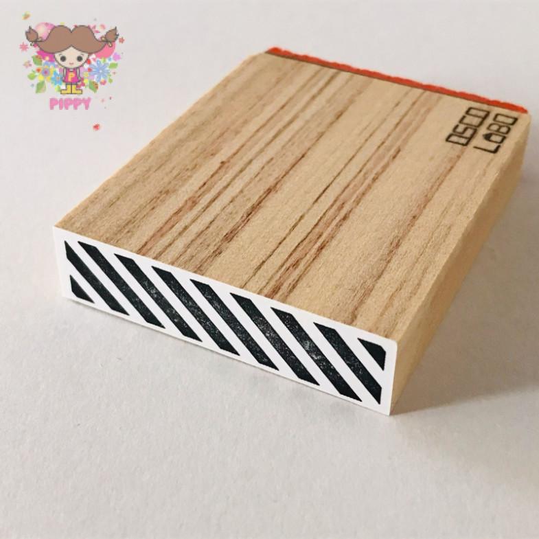 OSCOLABO STAMP☆[shape x pattern] tape wide: slanted☆