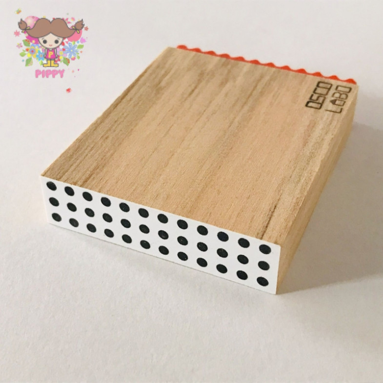 OSCOLABO STAMP☆[shape x pattern] tape wide: mameshibori☆