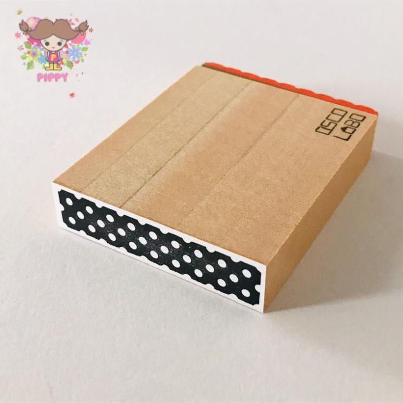 OSCOLABO STAMP☆[shape x pattern] tape wide: dot white☆