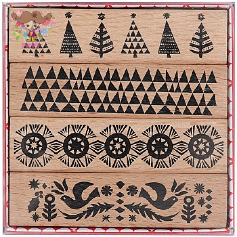 STAMP SET☆Christmassy borders☆